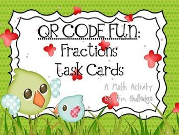 QR Code Fun: Spring Comparing Fraction Task Card Set - Ben