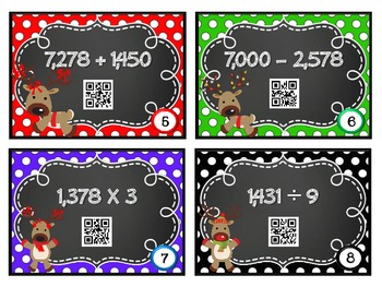 QR Code Fun: Task Cards - Addition, Subtraction, Multiplication & Division