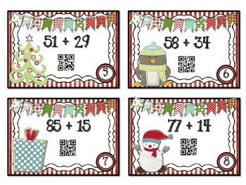 QR Code Fun: Two-Digit Addition Task Cards - with Regrouping