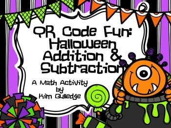 QR Code Fun & Two-Digit Addition and Subtraction Halloween Math