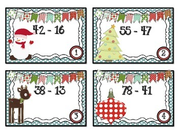 QR Code Fun: Two-Digit Subtraction Task Cards - with Regrouping