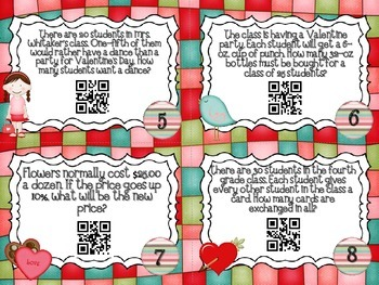 QR Code Fun: Valentine's Day Word Problems