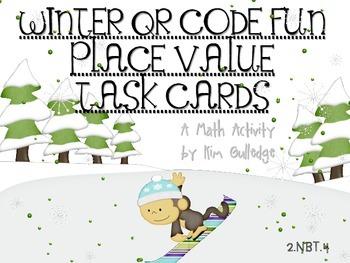 QR Code Fun: Winter Place Value Task Cards 2.NBT.4