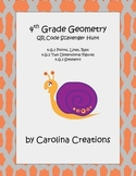 QR Code Geometry Scavenger Hunt Fourth Grade Common Core Math