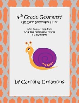 QR Code Geometry Scavenger Hunt Fourth Grade Common Core Math
