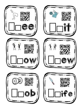 QR Code: Ghost Buddies Task Cards (gn, kn, wr)