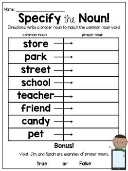QR Code Grammar Tasks {Common and Proper Nouns}