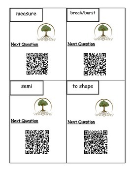 QR Code Greek and Latin Root Word Vocabulary Scavenger Hunt L.4.4, L.5.4