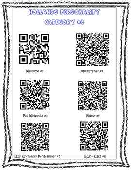 QR Code Holland's Theory Scanvenger Hunt