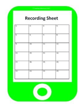 QR Code Homophones Task Cards