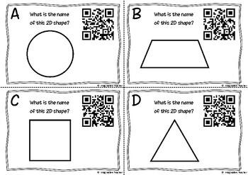 QR Code Hunt - 2D Shapes