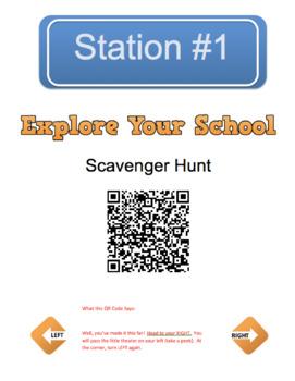 Back to School - QR Code Hunt (EDITABLE)
