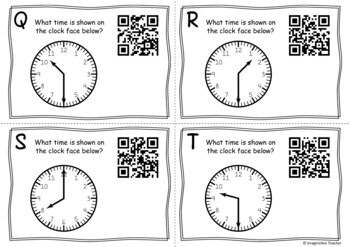 QR Code Hunt - Time (Half Hour Increments)