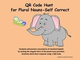 QR Code Hunt for Singular/Plural Nouns-Regular and Irregular Plurals