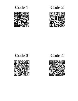 QR Code Interrogative French Practice Activity