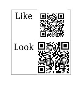 QR Code Kindergarten Sight Words