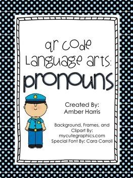 QR Code Language Arts:  Pronouns