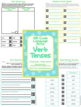 QR Code Language Arts:  Verbs Bundle
