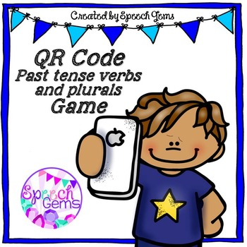 QR Code Language Game (Past tense verbs and Plurals)