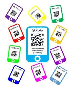 QR Code Length Conversion Word Problem Task Cards