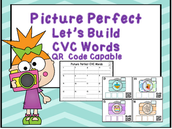 QR Code Let's Build CVC Words -Picture Perfect