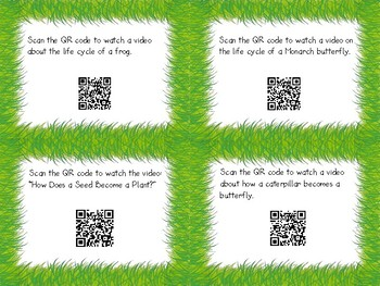 QR Code Life Cycles Scoot - Plants, Butterflies & Frogs