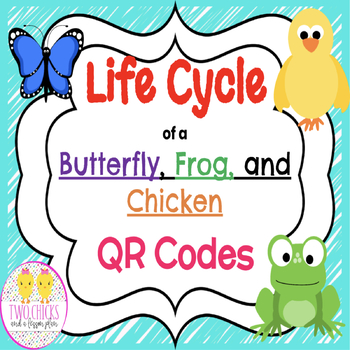 QR Code: Life Cycles of A Butterfly, A Frog, and A Chicken