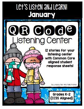 QR Code Listening Center (Common Core Aligned) - January