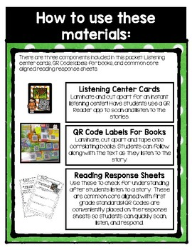 QR Code Listening Center (Common Core Aligned)-March