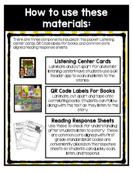 QR Code Listening Center (Common Core Aligned)- May
