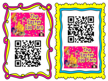QR Code + Listening Center Response Sheets: The Easter Egg Farm