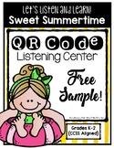 QR Code Listening Center - Sweet Summertime - FREEBIE!