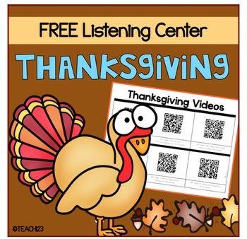 QR Code Listening Center Thanksgiving