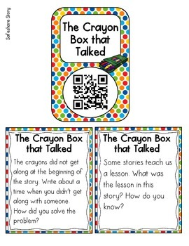 QR Code Listening Center: The Crayon Box that Talked {Freebie!}
