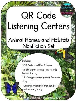 QR Code Listening Centers: Animal Homes and Habitats Nonfiction Set