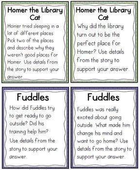 QR Code Listening Centers: Cat Stories Set 1