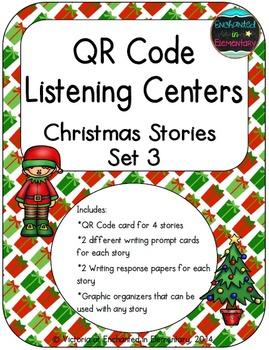 QR Code Listening Centers: Christmas Stories Set 3