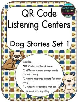 QR Code Listening Centers: Dog Stories Set 1