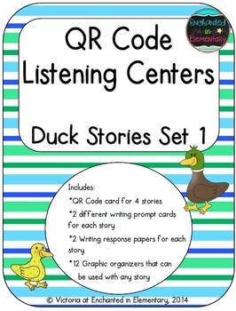 QR Code Listening Centers: Duck Stories Set 1