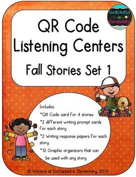QR Code Listening Centers: Fall Stories Set 1