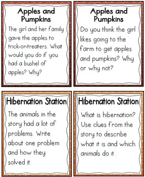 QR Code Listening Centers: Fall Stories Set 2