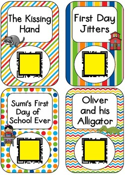 QR Code Listening Centers: First Day of School Stories
