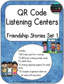 QR Code Listening Centers: Friendship Stories Set 1
