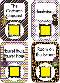 QR Code Listening Centers: Halloween Stories Set 1