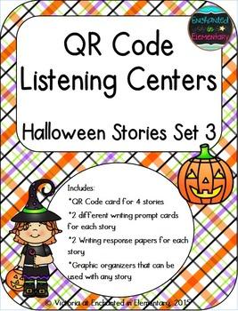 QR Code Listening Centers: Halloween Stories Set 3