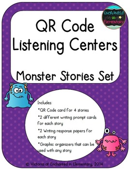 QR Code Listening Centers: Monster Stories Set