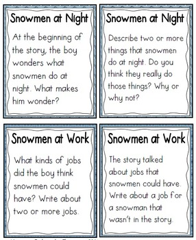 QR Code Listening Centers: Snowmen Stories Set