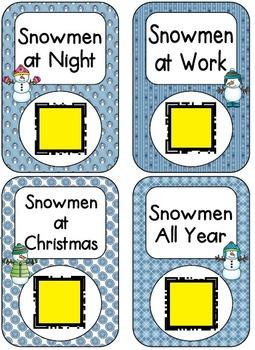 QR Code Listening Centers: Snowmen Stories Set