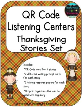 QR Code Listening Centers: Thanksgiving Stories Set