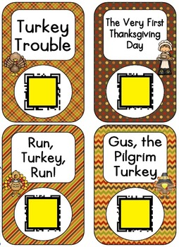 QR Code Listening Centers: Thanksgiving Stories Set